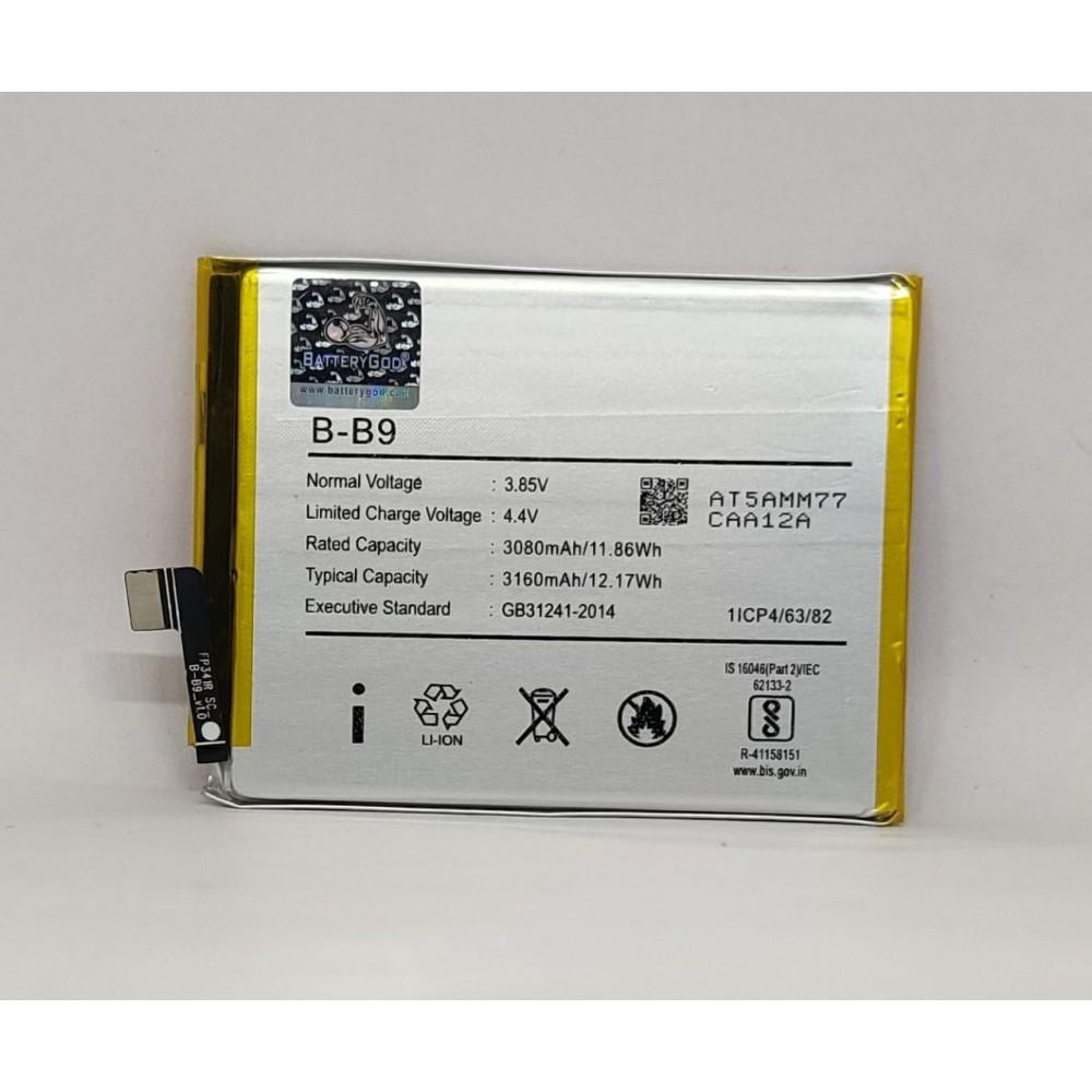 BATTERYGOD  Full Capacity Proper 3080 mAh Battery For Vivo V5+ / V5PLUS / B-B9 / X9i /B B9