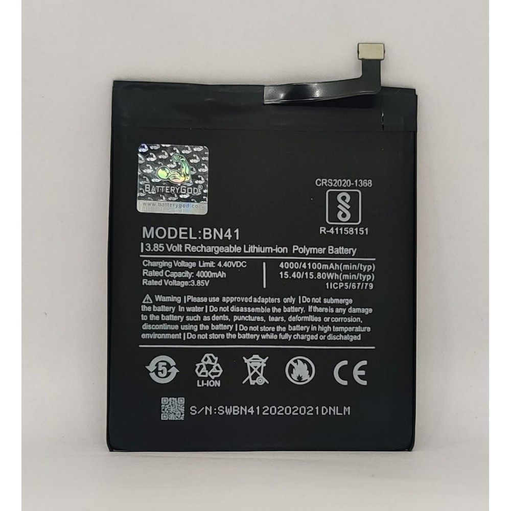 BATTERYGOD Full Capacity Proper 4000 mAh Battery for Xiaomi  Redmi Note 4 BN41 / BN-41