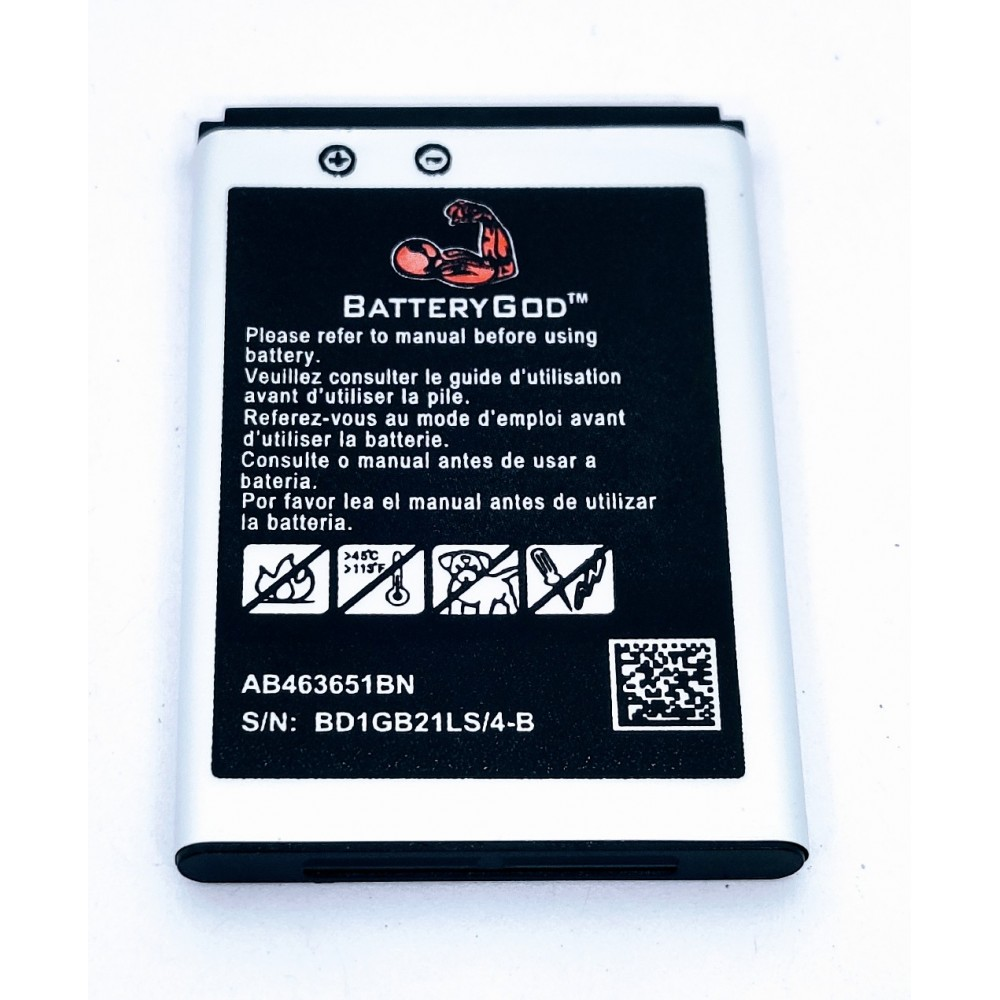 BATTERYGOD Full Capacity Proper 1000 mAh Compatible Battery for Samsung Galaxy L700 / S5600 / S3650 / S5600 / 3650 / AB463651BN