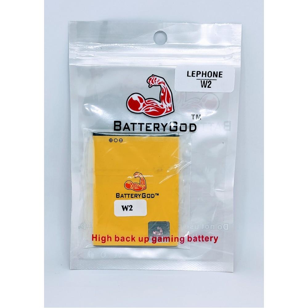 BATTERYGOD Full Capacity Proper 1500 mAh Mobile Battery for Lephone W2 / BLF-PW2H / BLFPW2H
