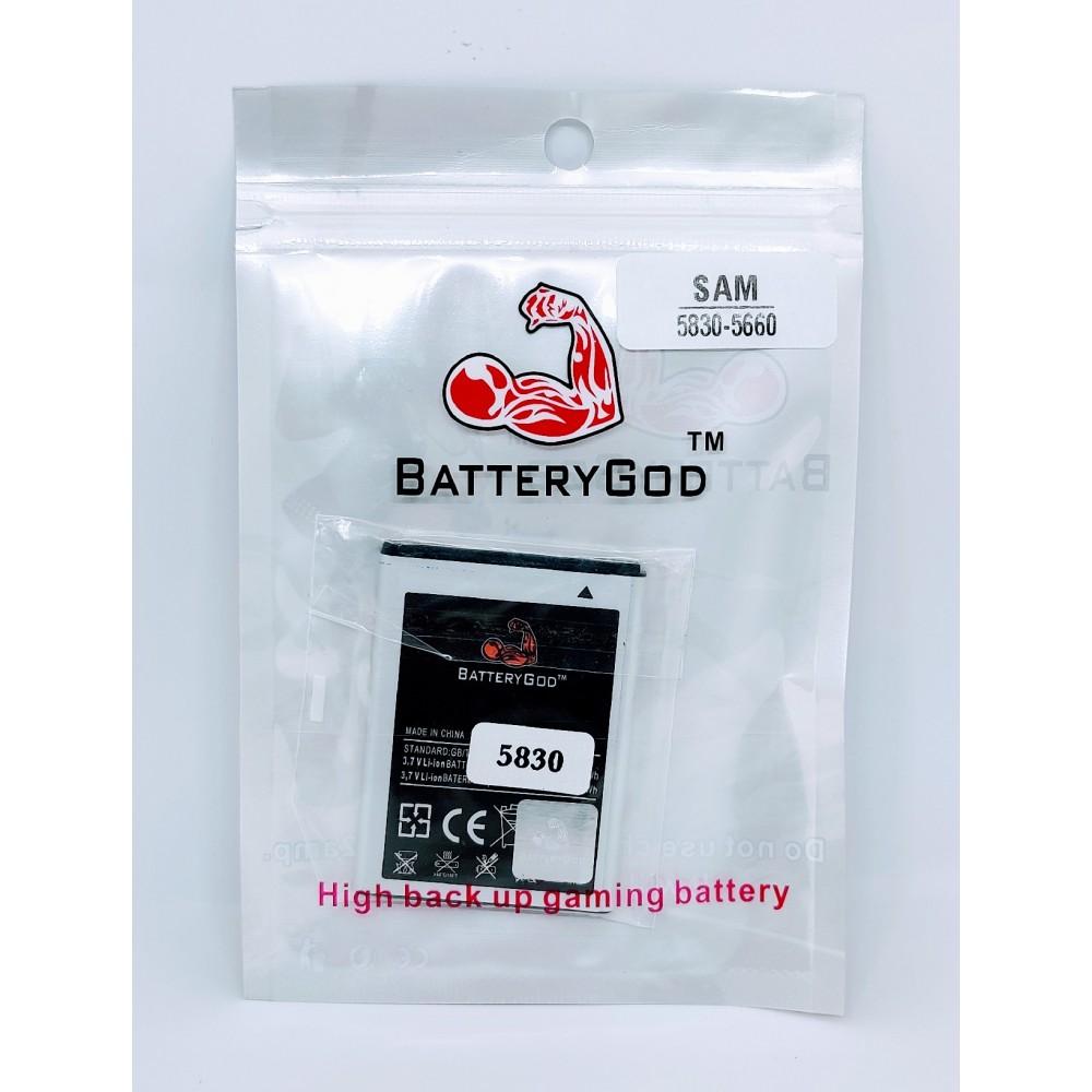 BATTERYGOD Full Capacity Proper 1350 MAh Battery For Samsung Galaxy Ace / S5830 / GT-S5830 / S5670 / GT-S5670 / S5512 / GT-B5512 / EB494358VU