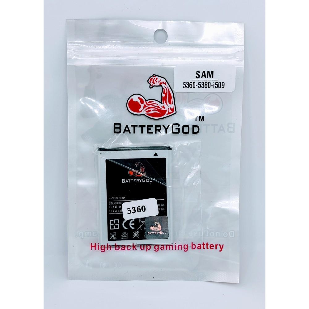BATTERYGOD Full Capacity Proper 1200 mAh Mobile Battery for Samsung Galaxy Y S5360 / S5380 / i509 EB454357VU