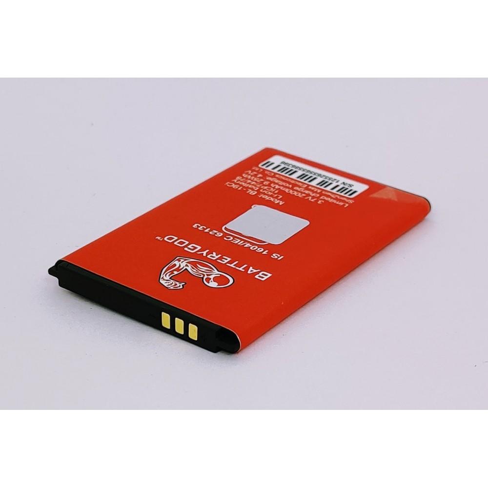 BATTERYGOD Full Capacity Proper 2000 mah Mobile Battery for Itel 5232 / 5233 / 7100 / 5040 / 19ci / BL-19CI / BL19ci