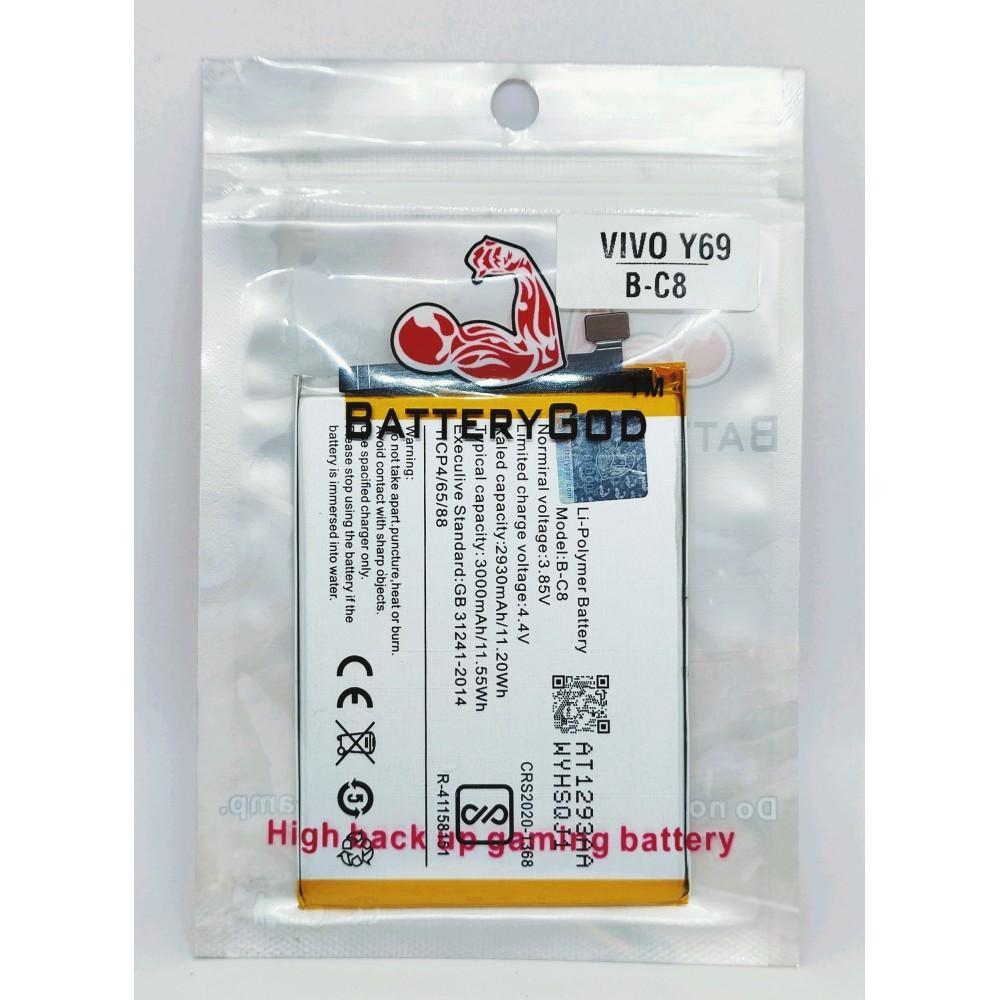 BATTERYGOD  Full Capacity Proper 3000 mAh Battery For Vivo Y69 / BC8 / B-C8