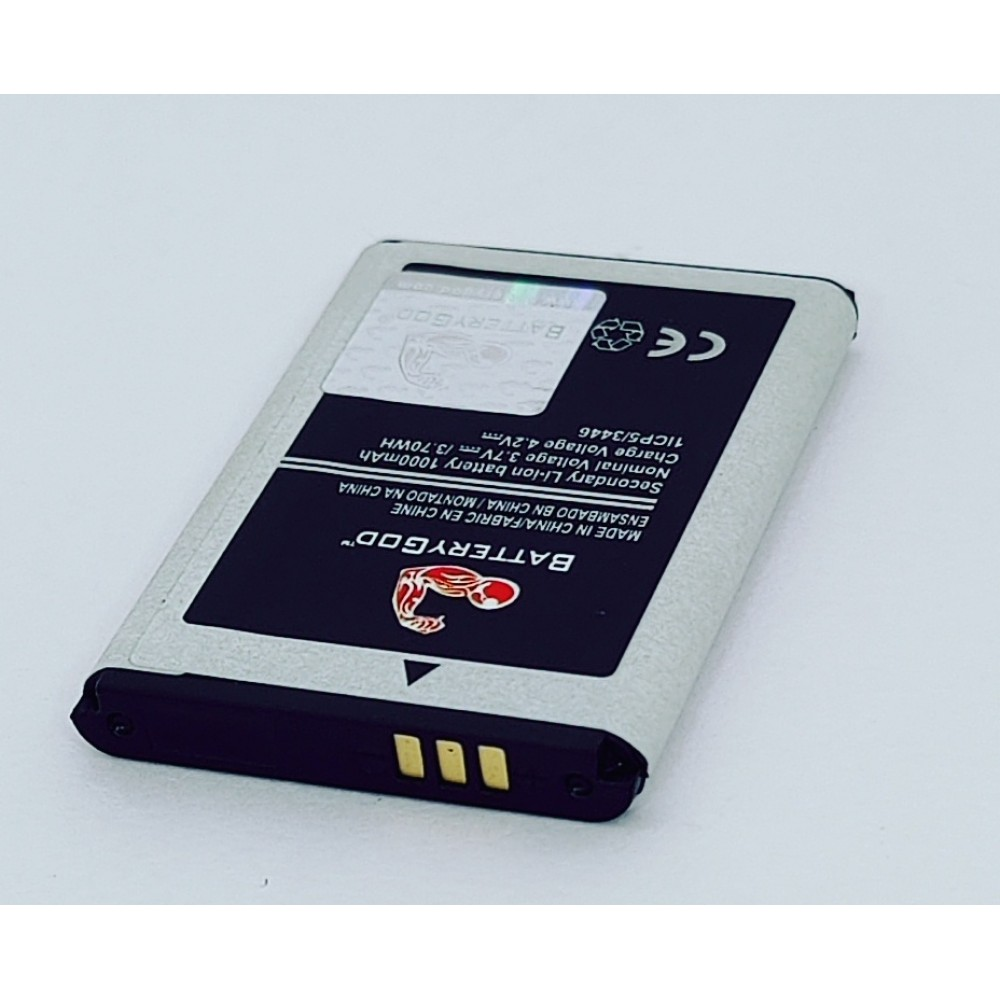BATTERYGOD Full Capacity Proper 1000 mAh Battery For Samsung GURU B100 / B2100 / B100 / C3300K / C5212 / E1110 / I320 / M110 / L258 / HERO E2232 / METRO E2252 / AB463446BC