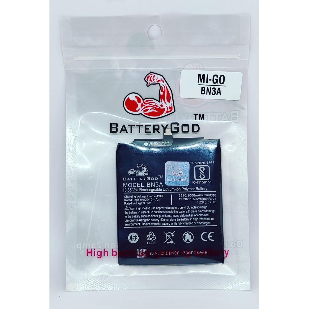 BATTERYGOD Full Capacity Proper 3000 mAh Battery for Mi Xiaomi Redmi Go / Mi Go / BN3A / BN-3A