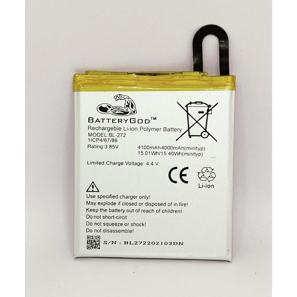 BATTERYGOD Full Capacity Proper 4100 mAh Battery For Lenovo Vibe K6 / Vibe K6 Power / K33A42 / BL-272 / BL272