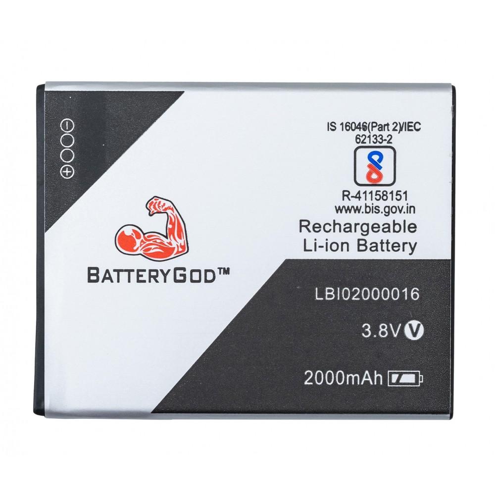 BATTERYGOD Full Capacity Proper 2000 mAh Battery for Lava A77 /LBI02000016
