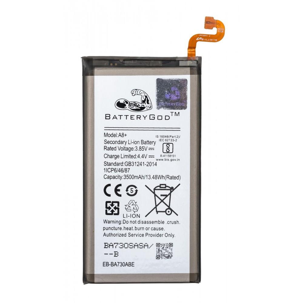 BATTERYGOD Full Capacity Battery 3500 mAh for Samsung Galaxy A8 PLUS / EB-BA730ABE