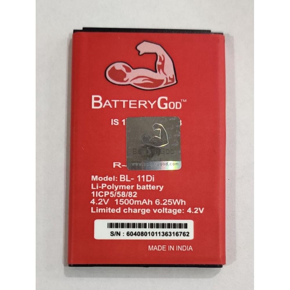 BATTERYGOD Full Capacity Proper 1500 mAh Battery For Itel  It6130 /11DI /BL-11Di /BL11di