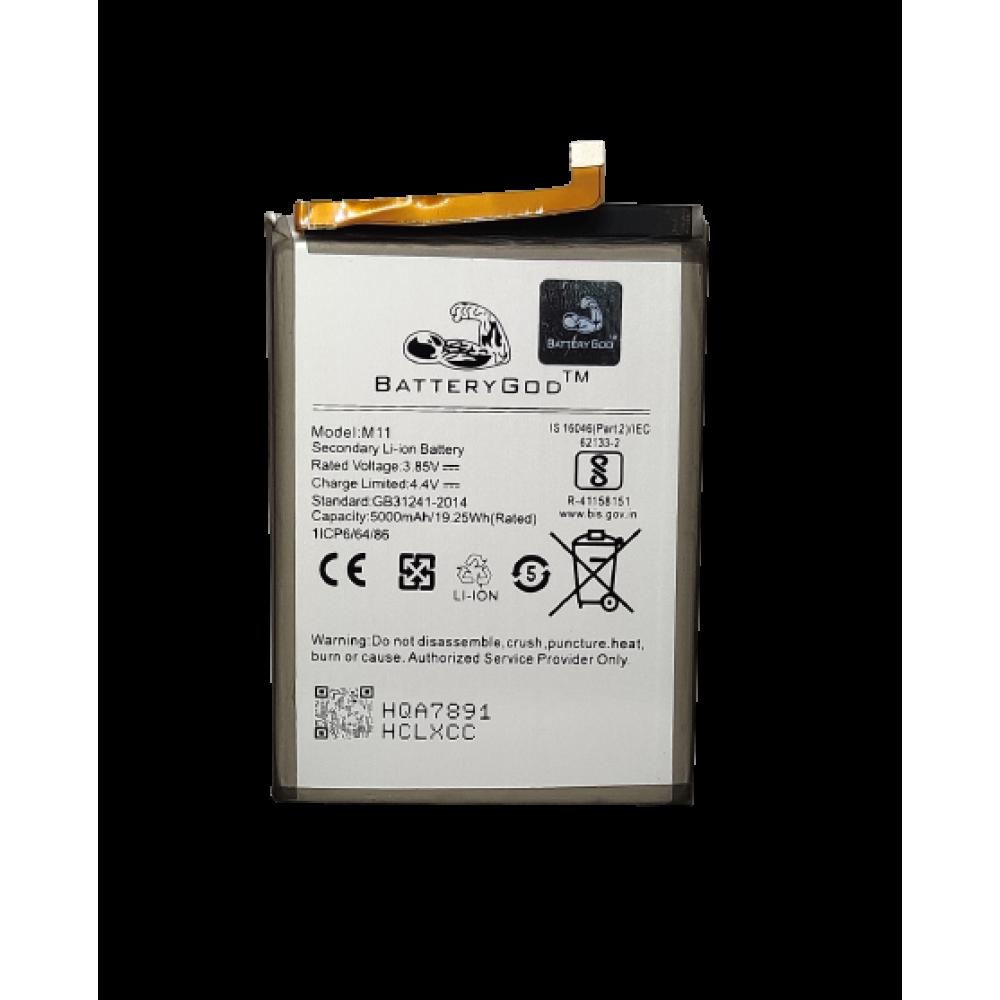 BATTERYGOD Full Capacity 5000 mAh Battery for Samsung Galaxy M11 (SM-M115F) Battery HQ-S71