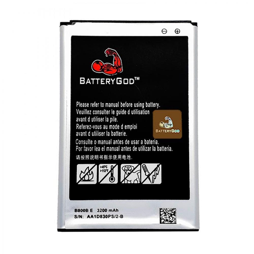 BATTERYGOD Full Capacity Proper 3200 MAh Battery For Samsung Galaxy Note 3 / Note3 / B800BE