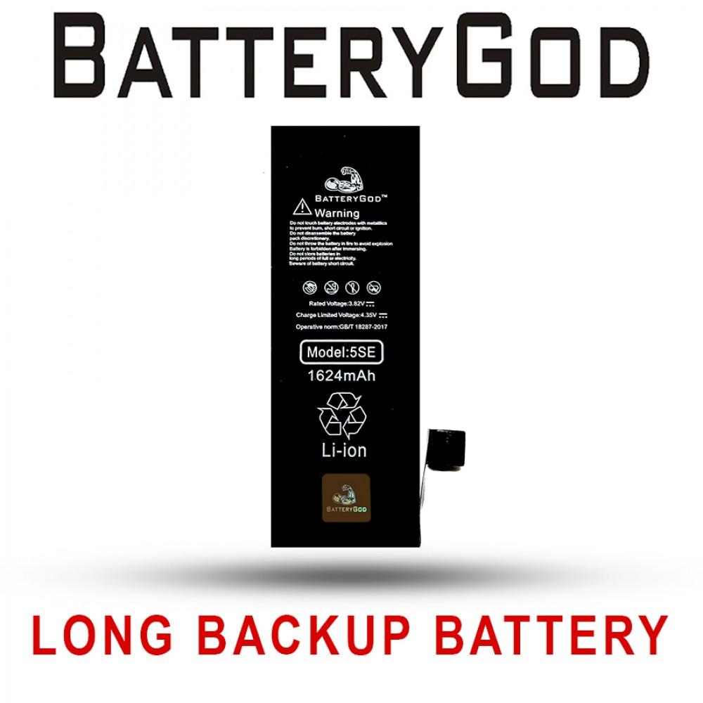 BATTERYGOD Full Capacity Proper 1624 mAh Battery For iPhone SE / 5SE